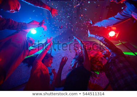 diszkó · buli · tánc · férfiak · nők · pop · art - stock fotó © 5xinc