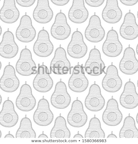 pattern game with food and objects color book Stock photo © izakowski