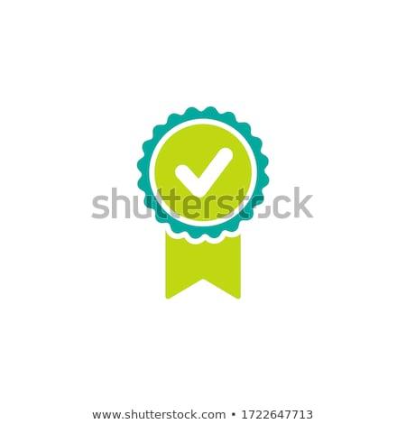 Logotipo de la empresa garantizar vector alto Foto stock © robuart