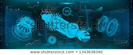Futuristic Jet Engine Engineering Concept Stock photo © solarseven