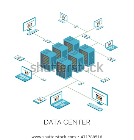 Loja on-line analítica isométrica ícones digital vetor Foto stock © frimufilms
