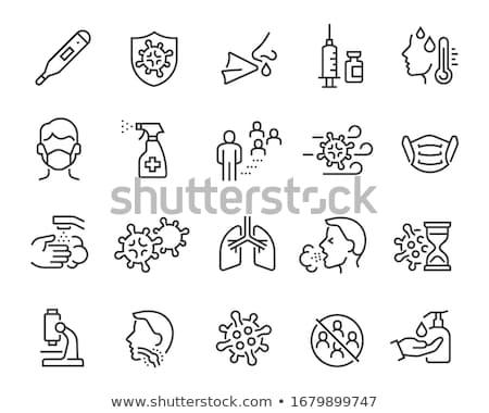 Influenza orvosi gyűjtemény ikon szett vektor vékony Stock fotó © pikepicture