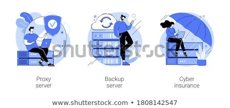 Remote connection vector concept metaphors. Stock photo © RAStudio