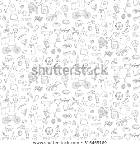 Water extreme sports hand drawn doodles seamless pattern. Stock photo © balabolka