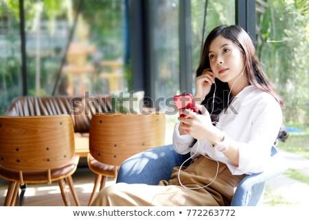 dość · pani · świeże · dziewczyna · patrząc · kamery - zdjęcia stock © pressmaster