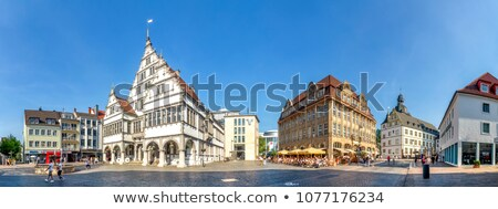 Stadhuis Duitsland vierkante stad centrum gebouw Stockfoto © borisb17