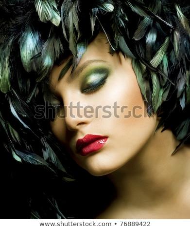 肖像 情熱的な 女性 目 深刻 若い女性 ストックフォト © pressmaster