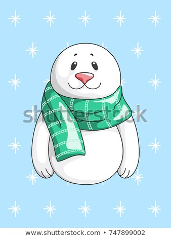 Merry Christmas Greeting Card with Sea Calf Seal Stock photo © robuart