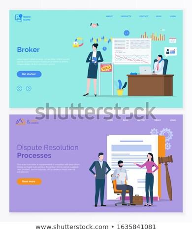 Finanse avukat komisyoncu web vektör Stok fotoğraf © robuart