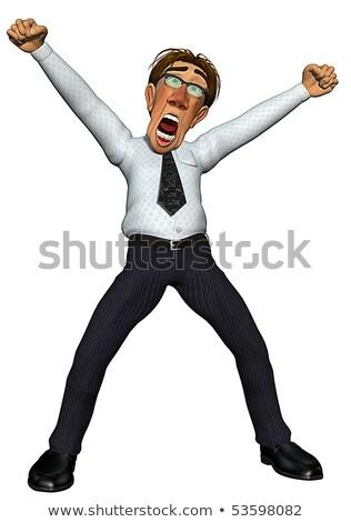 сердиться Boss тощий сотрудник страшно Сток-фото © konradbak