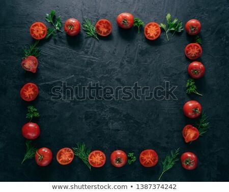 赤 トマト 嘘 フォーム フレーム ストックフォト © vkstudio