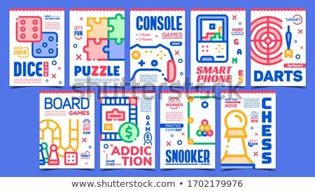 Dardos jogo criador publicidade bandeira vetor Foto stock © pikepicture