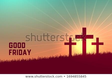 three crosses scene for good friday event Stock photo © SArts