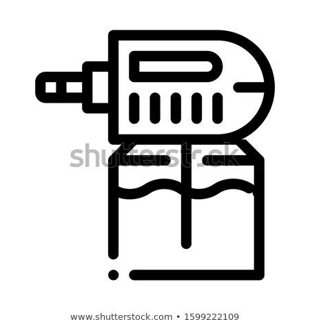Elektrik sivrisinek ikon vektör örnek Stok fotoğraf © pikepicture