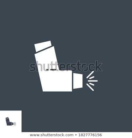 Inhaler related vector glyph icon. Stock photo © smoki