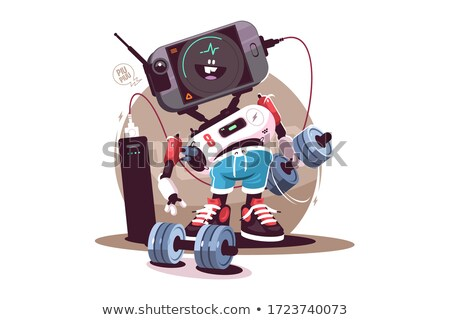Robot fitness instructeur modernes s'adapter Photo stock © jossdiim