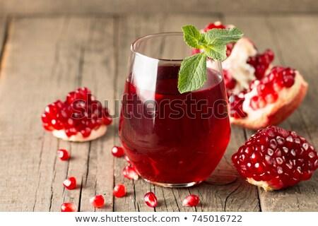 Granat soku świeże tabeli żywności Zdjęcia stock © tycoon