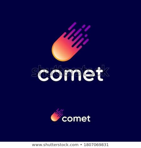Komeet vector icon illustratie ontwerpsjabloon hemel Stockfoto © Ggs