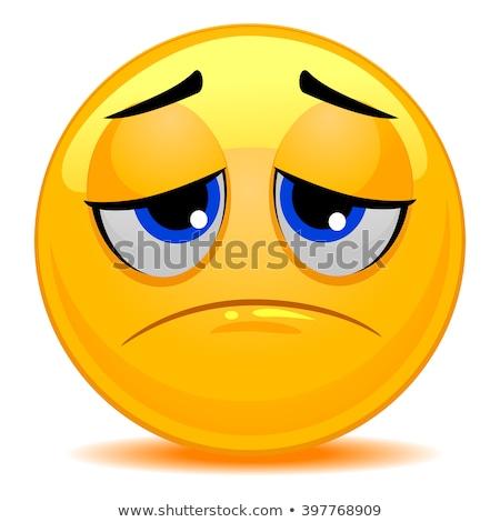 悲しみ 顔文字 悲しい 女性 笑顔 デザイン ストックフォト © yayayoyo