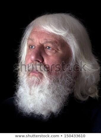 詳しい 黒 口ひげ あごひげ 白 孤立した ストックフォト © evgeny89