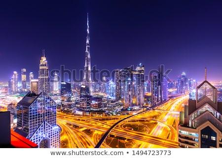 Aerial view of downtown Dubai Stock photo © bloodua