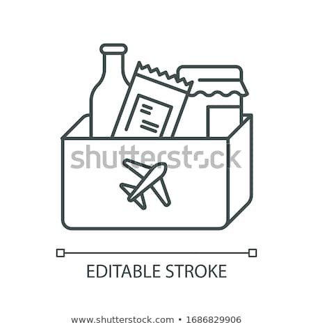 purchased duty free alcohol icon vector outline illustration Stock photo © pikepicture
