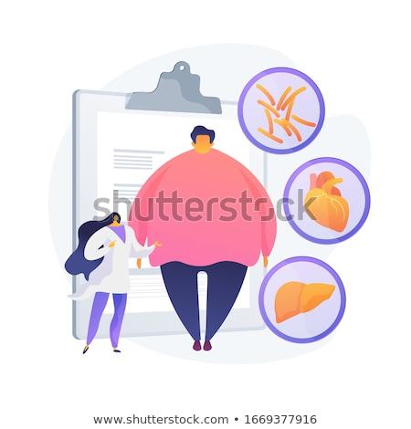 ожирение проблема вектора метафора избыточный вес человека Сток-фото © RAStudio