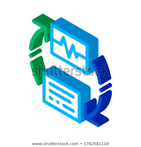 Wireless Diagnostics Voice Control isometric icon vector illustration Stock photo © pikepicture