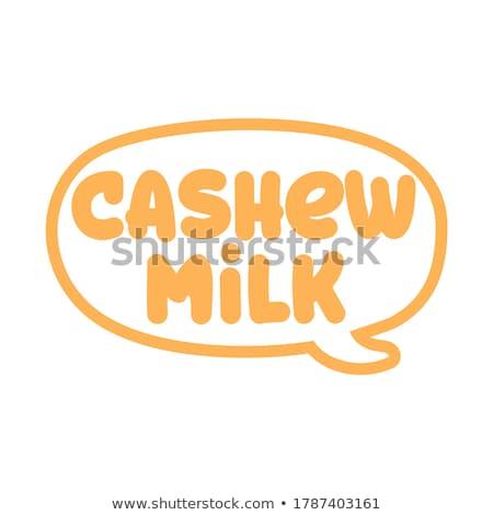 Caju leite logotipo vetor elemento Foto stock © Zsuskaa