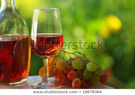 バラ ワインボトル ガラス ワイン パーティ ホーム ストックフォト © inaquim