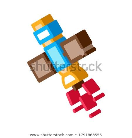 Satelitarnej topografia narzędzie izometryczny ikona wektora Zdjęcia stock © pikepicture