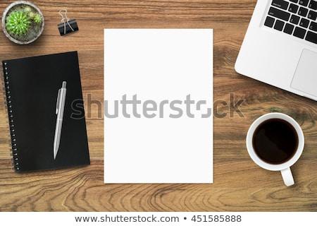 Kağıtları tablo boş kağıt duvar dizayn çerçeve Stok fotoğraf © beemanja