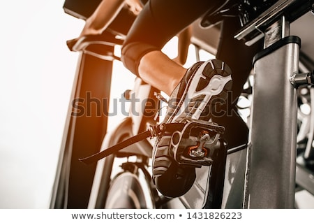 фитнес · велосипедов · студию · синий · велосипедах · спорт - Сток-фото © poco_bw