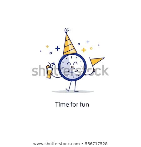 Foto stock: Tiempo · vacaciones · reloj · palabras · blanco · viaje