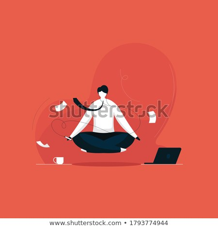 meditating businessman Stock photo © Paha_L
