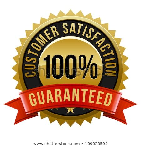 100 · yüzde · memnuniyet · garantili · altın · madalya - stok fotoğraf © get4net