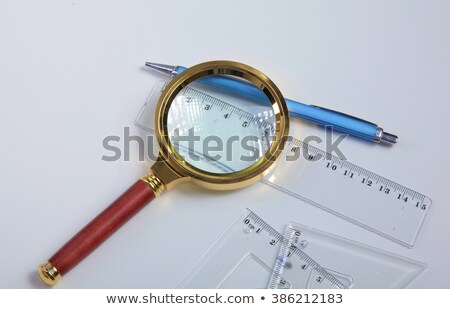 Pencil and yellow tape machine on sketch plan Stock photo © nuttakit
