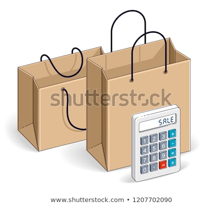 Brown paper shopping bag and calculator Stock photo © devon