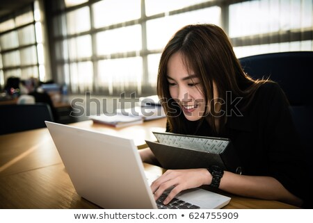 Caucasian Woman Unhappy with Stock Market Looking at Camera Stock photo © Qingwa