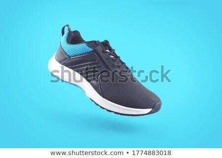 primer · plano · lienzo · zapato · moda · diseno · estudio - foto stock © designsstock