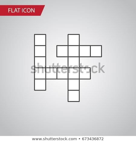 Crossword of word and cross Stock photo © bbbar