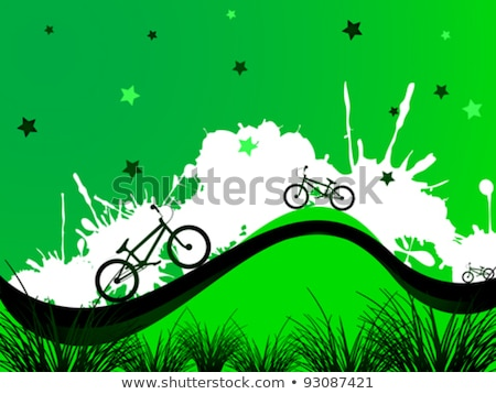 Background with bicycle and stars Stock photo © Elmiko