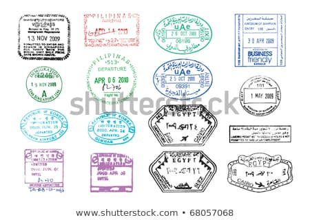 asian passport stamps vectors stock photo © smithore