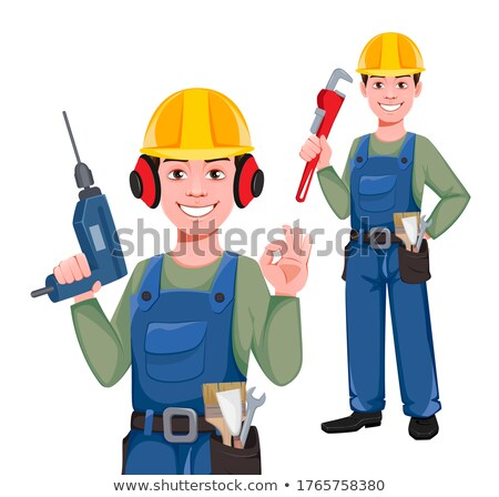 two workers posing with drills Stock photo © photography33