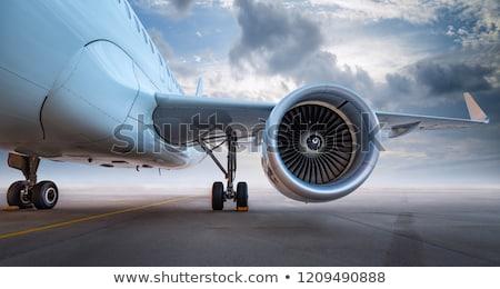 ストックフォト: 平面 · 翼 · エンジン · 表示 · ジェット · 空