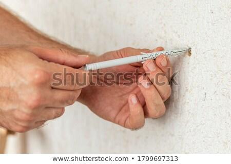 プラスチック 壁 孤立した 白 ツール サポート ストックフォト © Gertje
