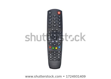 リモート · 孤立した · テレビ · リモコン · 番号 · 技術 - ストックフォト © Gertje