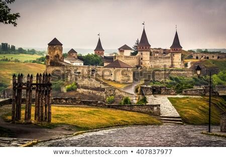 Ville rivière Ukraine pittoresque préservé Photo stock © joyr
