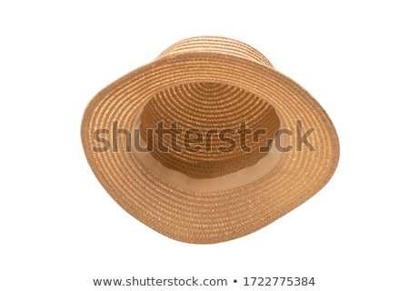 Woman in a straw hat on the beach Stock photo © photography33
