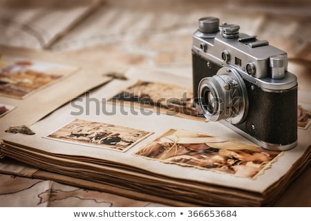 Old vintage camera and Photo Album Stock photo © deyangeorgiev